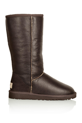 Brown Bomber Cuffed Boot Tall Boots