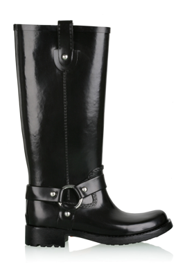 Stormy Biker Rubber Boot Tall Boots