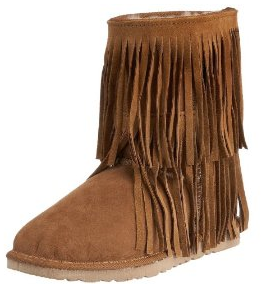 Koolaburra Double Fringe Leather Sheepskin Boots Shoes Koolaburra Double Fringe Boots