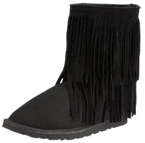 Koolaburra Double Fringe Leather Sheepskin Boots Koolaburra Double Fringe Boots