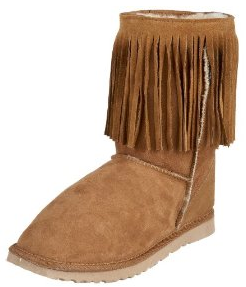 Koolaburra Womens Single Fringe Short Boot Koolaburra Double Fringe Boots