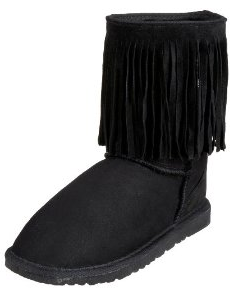 Koolaburra Womens Single Fringe boots Koolaburra Double Fringe Boots