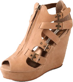 Twelfth St. by Cynthia Vincent Daryl Zip Wedge Sandals  Twelfth St. by Cynthia Vincent Daryl Zip Wedge Sandals
