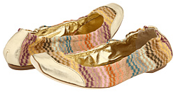 missoni gold ballerinas Missoni Ballerinas
