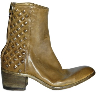 Alberto Fasciani 50mm washed studded low boots Alberto Fasciani washed studded low boots