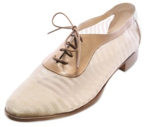 Beatrix Ong 20mm Calfskin and Mesh Derby Lace Up Sho Beatrix Ong 20mm Calfskin and Mesh Derby Lace Up Sho