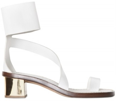Chloe White Calfskin Ankle strap thong sandals Chloe White Ankle strap thong sandals