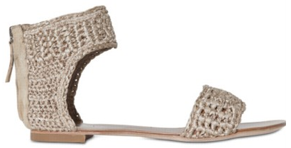 Crochet Ankle Strap Flats by Ionnis Ionnis Crochet Ankle Strap Flats