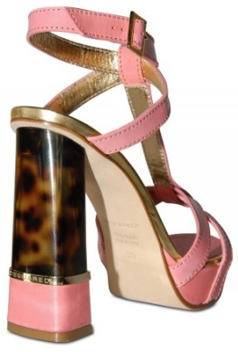 DSquared calf turtoise plexi heel sandals DSquared calf & turtoise plexi heel sandals