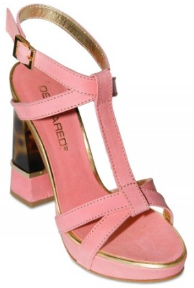 DSquared calf turtoise plexi DSquared calf & turtoise plexi heel sandals