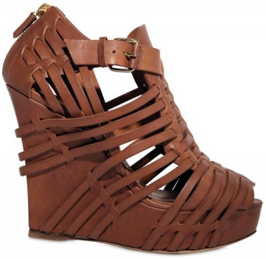 Givenchy Wooden Calfskin Wedges Givenchy Wooden Calfskin Wedges