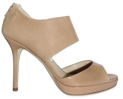 Jimmy Choo Beige Patent Leather Open Toe Sandals Jimmy Choo Beige Patent Leather Open Toe Sandals