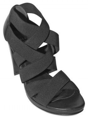Stuart Weitzman black elasticated Crosscross sandals Stuart Weitzman black elasticated Crisscross sandals