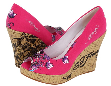 casablanca wedges Casablanca cork wedges Ed hardy