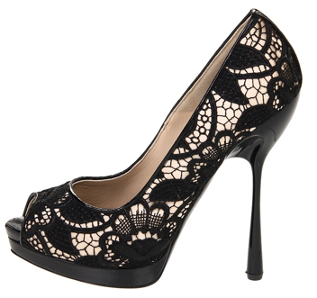 Alexander McQueen Black Orchid Lace Peep toe pumps Alexander McQueen Black Orchid Lace Peep toe pumps