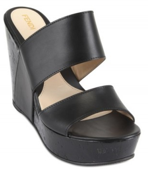 Cowide wedges fendi Fendi Cowhide Wedges