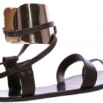 Lanvin Buffalo Metal Ankle Cuff Flats