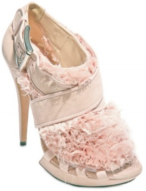 Nicholas Kirkwood Suede and Ruffle Chiffon Sandals Nicholas Kirkwood Suede and Ruffle Wedding Chiffon Sandals