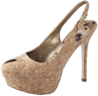 Sam Edelman Novato Open Toe Cork Platform Pumps Sam Edelman Novato Open Toe Cork Platform Pumps
