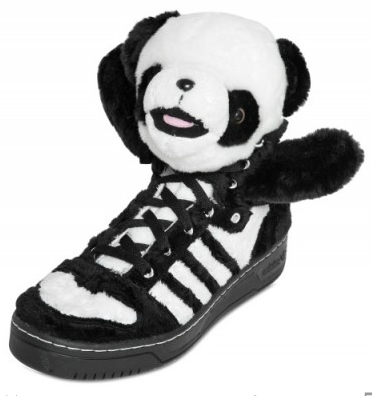 Adidas Original Jeremy Scott Panda Bear Sneakers Adidas Original by Originals Jeremy Scott Panda Bear Sneakers