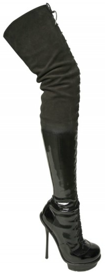 Alexander McQueen Patent Leather Suede Boots  Alexander McQueen Patent Leather Suede Boots