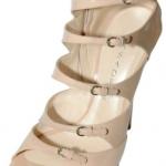Casadei Patent Cage Sandals