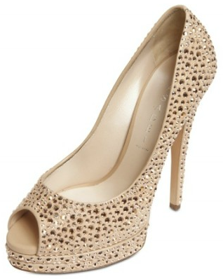 Casadei Swarovski Open Toe Pump Casadei Swarovski Open Toe Pumps
