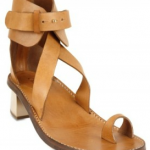 Chloe Calfskin Ankle Strap Thong Sandals