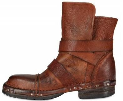 Elena Iachi Calfskin ankle strap boots Elena Iachi ankle strap low boots