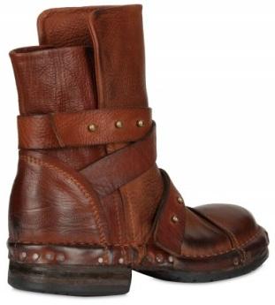 Elena Iachi Calfskin ankle strap low boot Elena Iachi ankle strap low boots