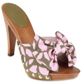 Red Valentino Flower Printed cloggs Red Valentino Flower Printed Sandals
