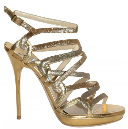 Jimmy Choo Mirrored Glitter Sandal Jimmy Choo Mirrored Glitter Sandals