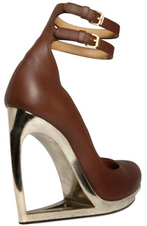 Lanvin gold wedges1 Lanvin Calfskin Wedges
