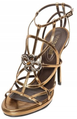 Roberto Cavalli Swarovski metal sandals Roberto Cavalli Swarovski and metal sandals