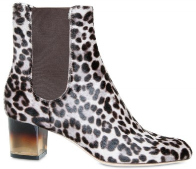 Salvatore Ferragamo Plexi Heel Pony Skin Boots Salvatore Ferragamo Plexi Heel Pony Skin Effect Boots