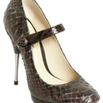 Stunning Striking Python Mary Janes Pumps