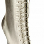 Balmain Laminated Calfskin Lace up Boots