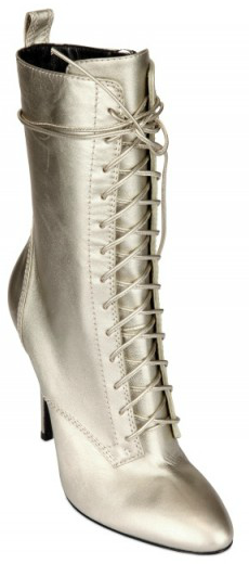 Balmain Laminated Calfskin Lace up Boots Balmain Laminated Calfskin Lace up Boots