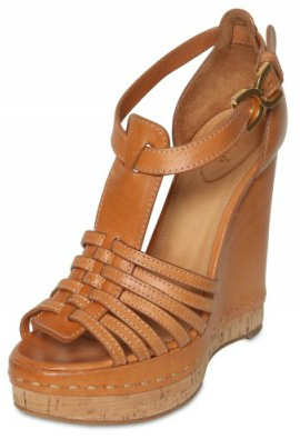 Chloe T Bar Wedges  Chloe T Bar Sandal Wedges