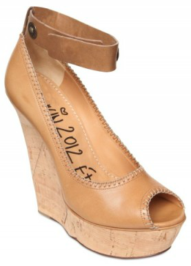 Lanvin Leather Cork Wedge  Lanvin Cork Wedges