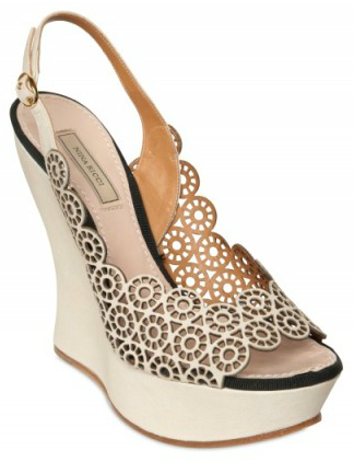 Nina Ricci Lasered Open Toe Wedges Nina Ricci Lasered Open Toe Wedges