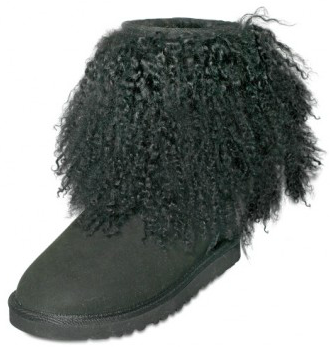UGG Australia Shearling Mongolia Cuff Boot Funky Black UGG Shearling Mongolia Boots