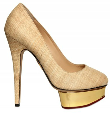 Charlotte Olympia Straw &amp; Mirror Platforms