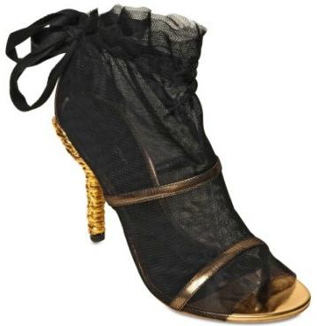 Dolce Gabbana Tulle Mirror Sandal Dolce & Gabbana Tulle & Mirror Sandals
