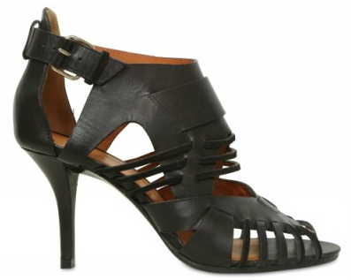 Givenchy Leather Suede Cage Sandals